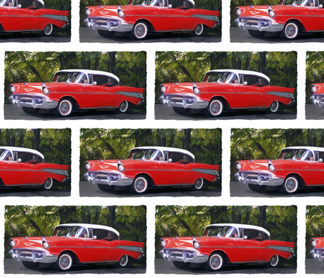 1957 Chevy fabric by mur on Spoonflower - custom fabric