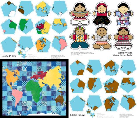 Montessori Geography Saver Set fabric by evenspor on Spoonflower - custom fabric