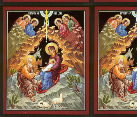 Nativity Icon Panel fabric by rengal on Spoonflower - custom fabric