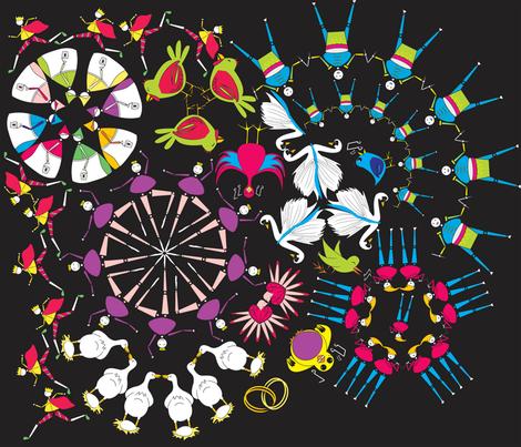 Xmas Fireworks! fabric by majobv on Spoonflower - custom fabric