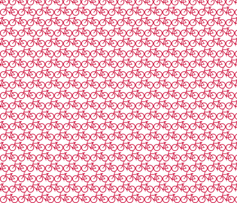 small bicycle red on white fabric by luluhoo on Spoonflower - custom fabric