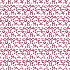 small bicycle red on white