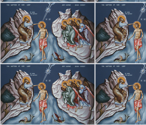 Theophany Icon Panels fabric by rengal on Spoonflower - custom fabric