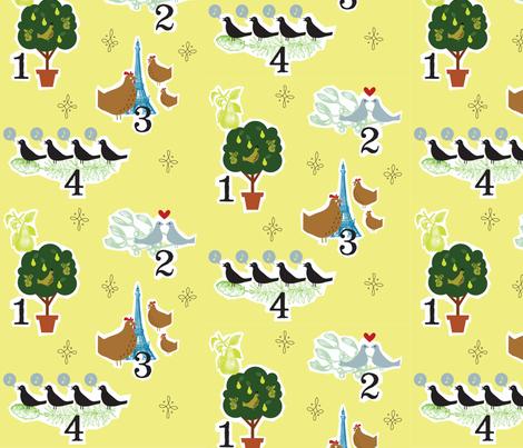 12 Days of Birds fabric by jenimp on Spoonflower - custom fabric