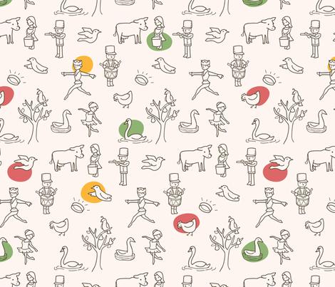 My True Love fabric by auki on Spoonflower - custom fabric