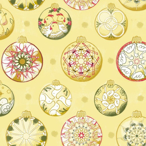 Twelve Days of Christmas Ornaments in Color - © Lucinda Wei