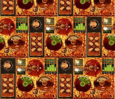 Time Machine fabric by jadegordon on Spoonflower - custom fabric