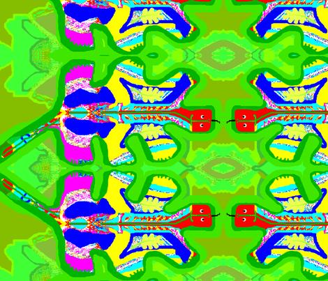 Oak Leaf Critter fabric by robin_rice on Spoonflower - custom fabric