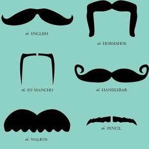 mustache gallery- blue