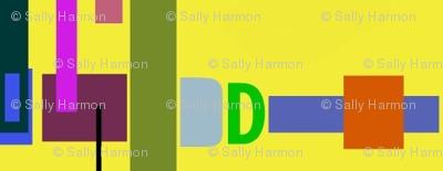 Yellow Robot Coordinate Stripe