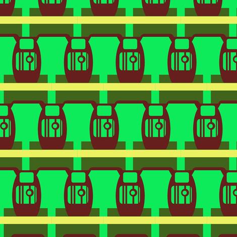 Robot Urns fabric by boris_thumbkin on Spoonflower - custom fabric