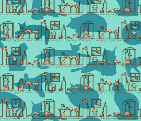 Cats Sleep Anywhere fabric by jasmo on Spoonflower - custom fabric