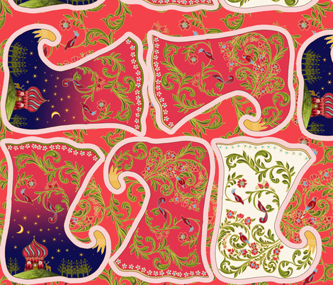 petite_botte_de_noël_russe fabric by nadja_petremand on Spoonflower - custom fabric