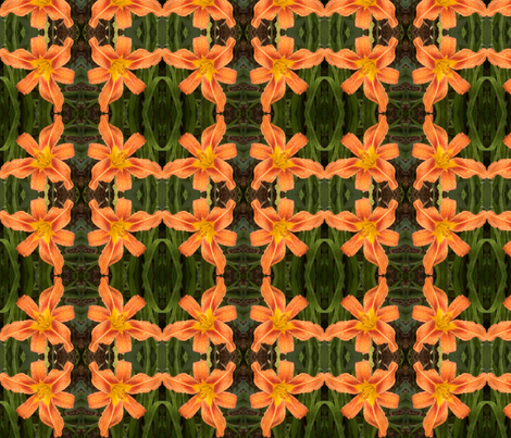 Daylily dance fabric by murrday on Spoonflower - custom fabric