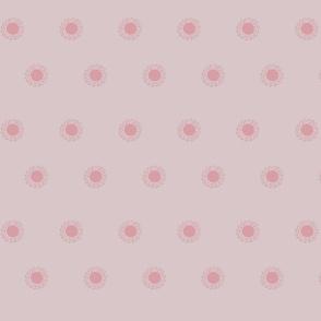 Pastel Dandelion dots in pink