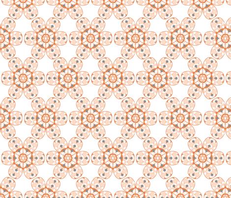 Flower Sixies Orange fabric by reannalilydesigns on Spoonflower - custom fabric