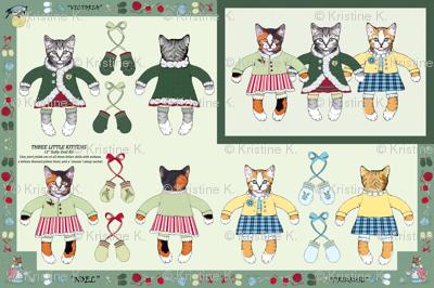 Three Little Kittens -- 'Cut-n-Sew' Doll Kit