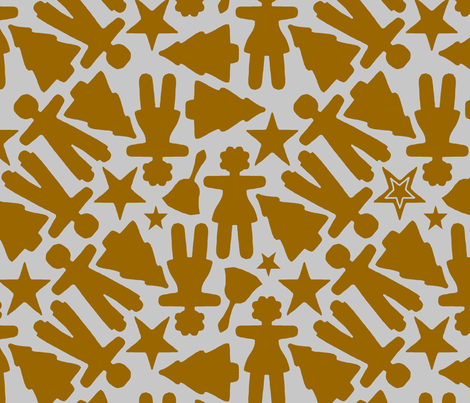 gingerbread_cookies fabric by victorialasher on Spoonflower - custom fabric