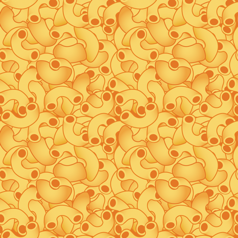 Macaroni and Cheese fabric by greencouchstudio on Spoonflower - custom fabric