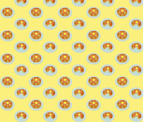 (Medium) Breakfast Pancakes fabric by greencouchstudio on Spoonflower - custom fabric