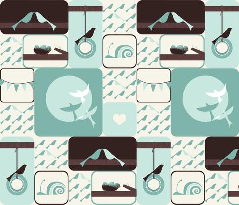 Bird Sampler fabric by ttoz on Spoonflower - custom fabric