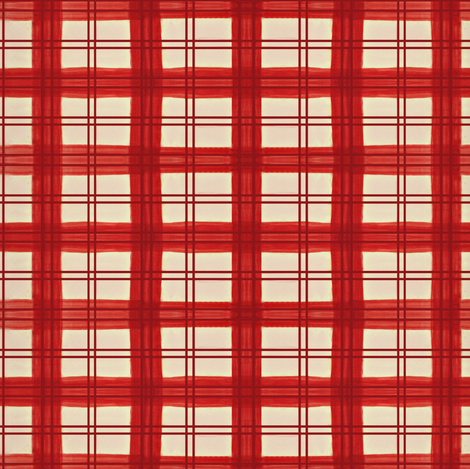 Red painted plaid fabric by paragonstudios on Spoonflower - custom fabric