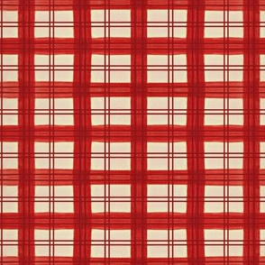 Red painted plaid