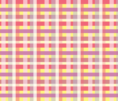Intergalactic Plaid for Girls fabric by asilo on Spoonflower - custom fabric