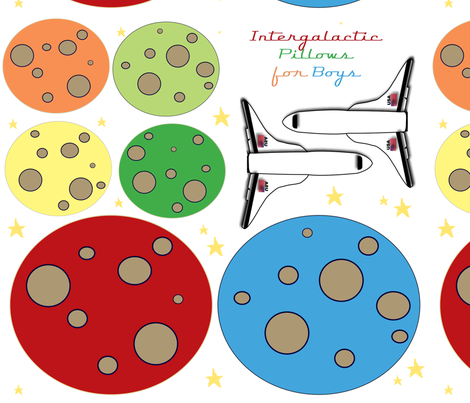 Intergalactic Pillows for Boys fabric by asilo on Spoonflower - custom fabric