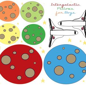 Intergalactic Pillows for Boys