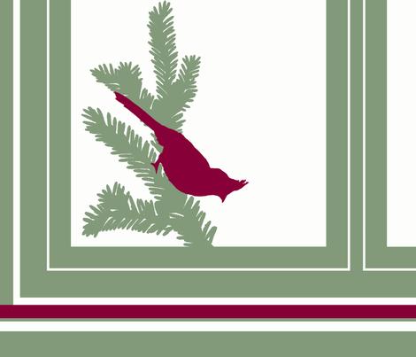 Cardinal Tea Towel fabric by hauteideas on Spoonflower - custom fabric