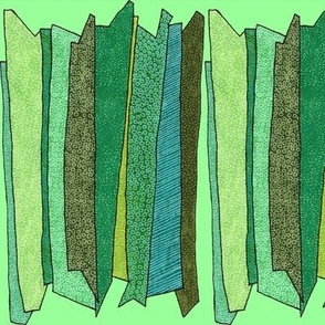 green stripes in light green