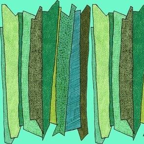 green stripes in mint
