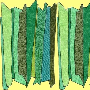 green stripes in yellow