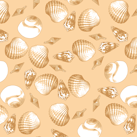 Shell-Mell - Biscuit fabric by inscribed_here on Spoonflower - custom fabric