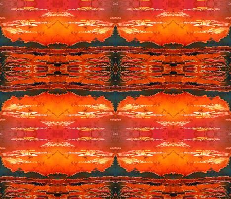 RIPPLZ 4 (sunset) fabric by suedudadesigns on Spoonflower - custom fabric