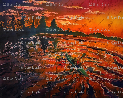 RIPPLZ 5 (Kayak Serenity) by SUE DUDA