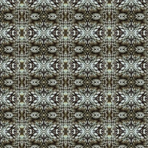 geometric print from pine cone photograph