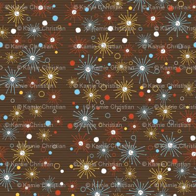 Blast pattern on brown