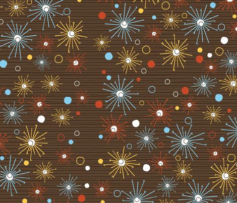 Blast pattern on brown fabric by kamiekazee on Spoonflower - custom fabric