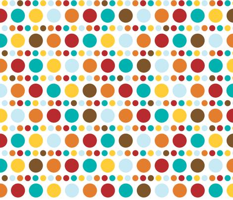 Sunkissed polkadots fabric by kamiekazee on Spoonflower - custom fabric