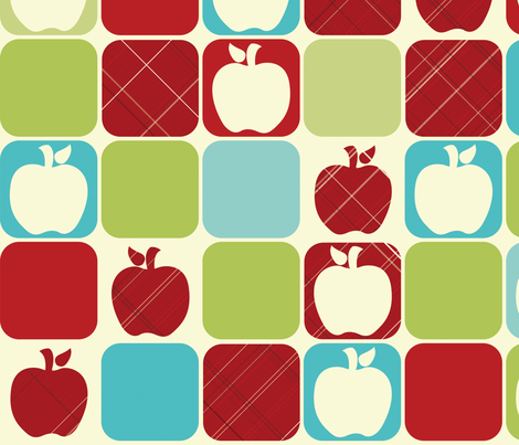Apple Days fabric by kamiekazee on Spoonflower - custom fabric