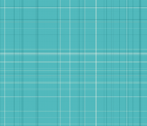Apple Days teal plaid fabric by kamiekazee on Spoonflower - custom fabric