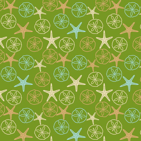 Sea Gifts - Biscuit-Seaweed fabric by inscribed_here on Spoonflower - custom fabric