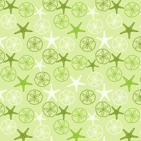 Sea Gifts - Seaweed fabric by inscribed_here on Spoonflower - custom fabric