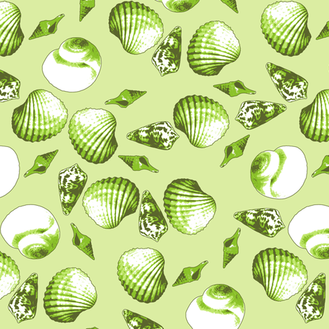 Shell-Mell -Seaweed fabric by inscribed_here on Spoonflower - custom fabric