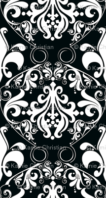 Trés Chic Black & White Damask