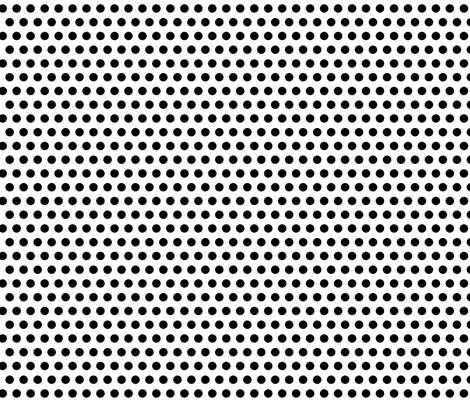 Trés Chic Black & White Small Polka Dots fabric by kamiekazee on Spoonflower - custom fabric