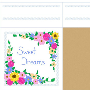 sweet dreams pillow 12 inch square NOTE: Sateen or wider fabrics only!
