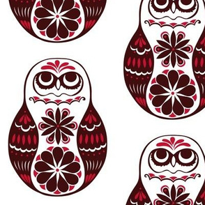 Flower Owls, Solo, in Red
